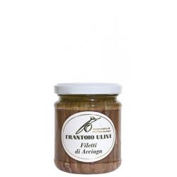 Filetti di Acciughe in olio d'oliva 212 gr - Frantoio Ulivi di Liguria
